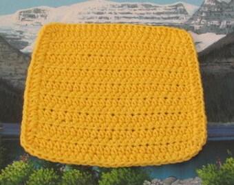 0334 Hand crochet dish cloth 7.5 by 7