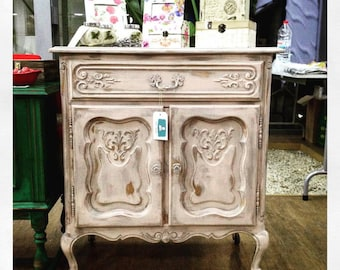 Shabby Chic Louis XV Antique Cabinet