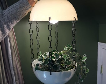 Atomic Swag Lamp with Hanging Planter