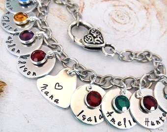 Personalized Nana Bracelet,Hand Made Nana Bracelet, Grandma Bracelet,Grandma Gift,Grandma Jewelry,Nana Jewelry,Gift for Grandma,Custom Gift