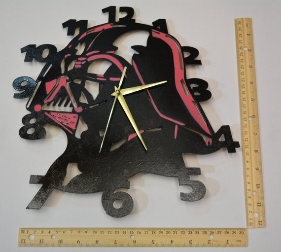 Star Wars Wall Clock Darth Vader Lady By Ontheothersidestudio