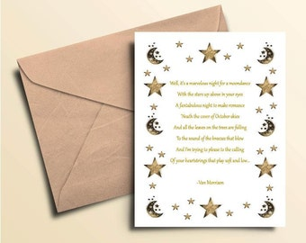 Moondance Note Cards - Boxed Set of 10 With Envelopes
