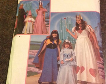 Simplicity Sewing Pattern 9897 Queen Of Hearts Princess Snow White Dress Cape Girls Women Costume Cosplay Theater School XX-Small Medium Lrg