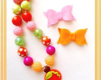 Pumpkin Princess Chunky Bead Necklace