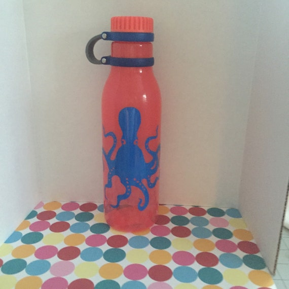 Octopus Water Bottle - Ready to Ship - leak proof-BPA free : 24 ounce FREE SHIPPING