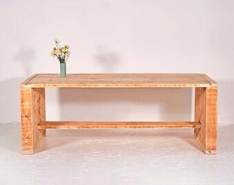 Garden table from recycled lumber MERLOT