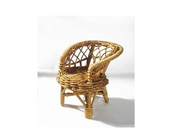 Small Wicker Chair Etsy