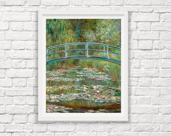 Claude Monet - Bridge Over a Pond of Lillies 1899 - Monet Art - Monet Print - Impressionist Painting - Painting Print - Giclee Print
