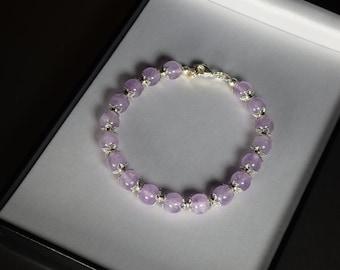 Bracelet made of amethyste