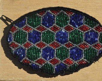 Vintage 1980s Beaded Coin Purse