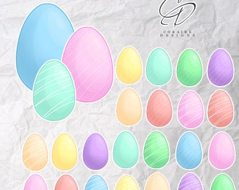 Easter Egg Clipart In Pastel Colours