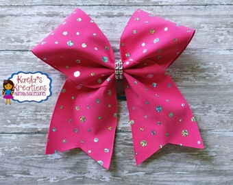 Pink Cheer Hair Bows,Cheer Bows, Cheer Hair Bows,Solid Pink Cheer Bows,Sparkly Pink Cheer Bows,Sparkly Pink Cheer Hair Bows,Cheer