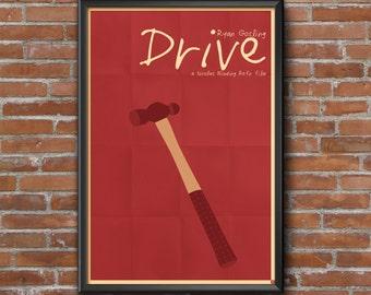 Drive Movie Poster, Ryan Gosling, Nicolas Winding Refn, Minimalist, Albert Brooks, Bryan Cranston, Oscar Isaac