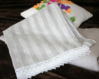 Linen bath towel, linen bath house towel