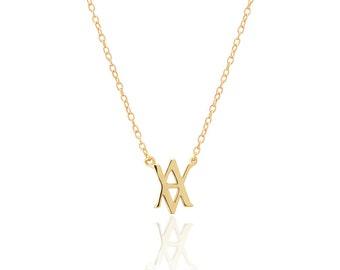 minimal necklace-triangle necklace- geometric necklace-Delicate Necklace-aran necklace-symbol necklace