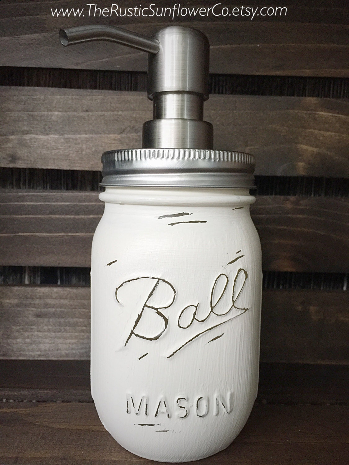 how to make a painted mason jar soap dispenser