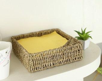 Rustic square napkin holder/rustic home decor/storage basket/vintage napkin holder/house warming gift/Wholesales bulk/GrasShanghai