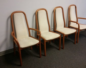 Four midcentury Danish Dining Chairs by Boltinge