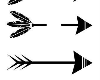 arrow SVG, arrow words SVG, arrow feathers SVG, arrow cut file, tribal svg, tribal cut file, arrows svg, feathers svg, tribal name svg