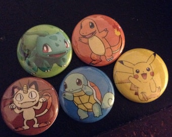 Pokemon Go Pin  Buttons Set 1""