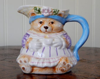 Lady Bear Creamer from 1993, Miniature Pitcher, Bear Pitcher, Miniature Creamer