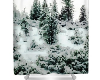 unique designer shower abstract trees bathroom white winter bathroom decor