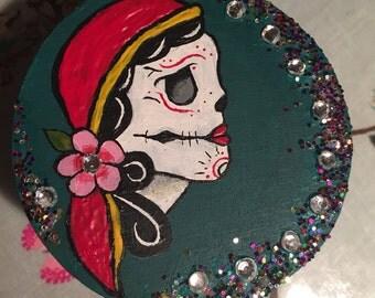 Gypsy skull trinket box
