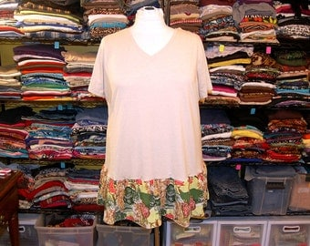 3X 4X 5X 'Fanny Flap' Fitness Runner Tee Tunic boho restyled refashioned altered