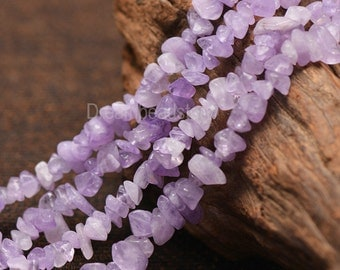 Jewelry Making Materials High Quality Natural Lavender Amethyst Gemstone Chips Beads Supplies
