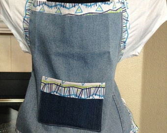 Upcycled Child's Blue Jean Apron