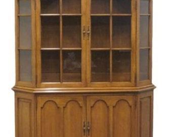 DAVIS CABINET 56″ Antique Walnut Solid Wood China Cabinet