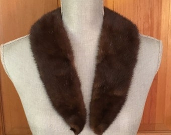 Vintage Mink Collar, Dress Collar, Jacket Collar, Brown Fur Collar, Brown Mink Collar,