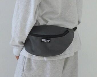 Minimalist Bum Bag Dark Grey