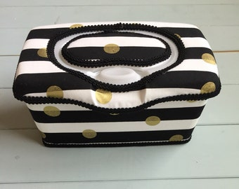 Black and White Stripes, Wipe Case, Wipes Case, Baby Wipe Case, Wipes Holder, Wipes Container, Nursery Decor, Baby Gift, Babyshower