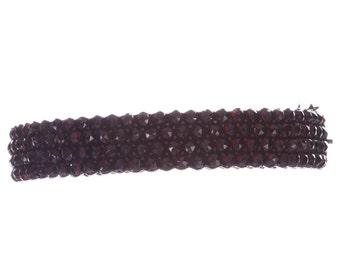 Victorian Garnet Hinge Bracelet Vermeil Mine Cut