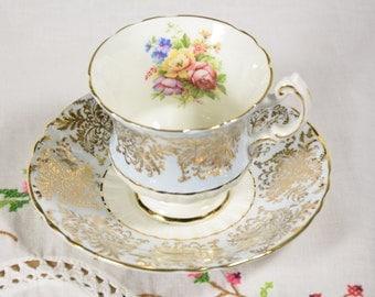 Paragon pastel blue tea cup and saucer