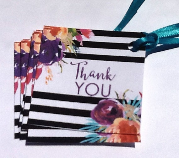 12 Floral Thank You Cards