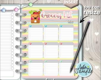 60%OFF - Grocery List, Printable Planner, Planner Insert, Food Planner, Planner Dashboard, Kawaii, Divider, To Do List, Printable List