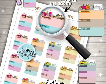 60%OFF - Meal Planner Stickers, Printable Planner Stickers, Food Stickers, Box Stickers, Kawaii Stickers, Planner Accessories, Meal