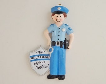 Personalized Police Officer Ornament - Police Officer Gift - Gifts for Police Officers - Personalized Free - Male or Female Officer Ornament