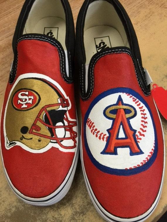 custom painted sports fan shoes
