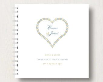 Personalised Wedding Memories Book or Planner