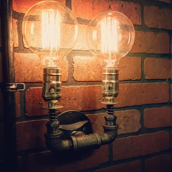 copper bathroom lighting steampunk wall sconce light with copper springs home 12510