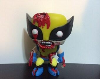 Custom POP Zombie Wolverine - Xmen - Marvel