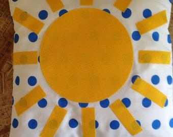 Sunshine Appliqué Cushion Cover