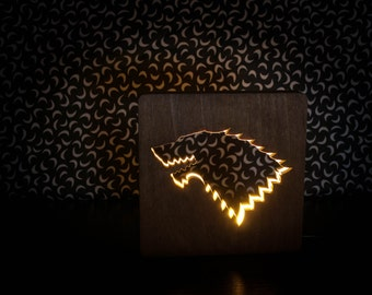 Game of Thrones lamp Night lights Lamp for bedroom Table lamp Wooden lamp LED lamp warm light
