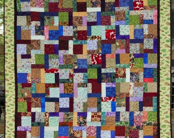 Green Acres Country Scrap Quilt (Throw)