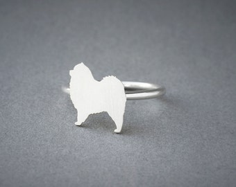 CHOW CHOW RING / Chow Chow Ring / Silver Dog Ring / Dog Breed Ring / Silver, Gold Plated or Rose Plated.