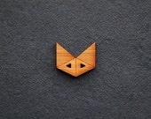 3x Fox Wooden Button (origami fox, geometric animal, minimalist, timber, wood, bamboo, kids clothing, dressmaking, diy supplies, wardrobe)