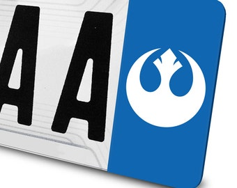 Sticker Logo Rebellion Star Wars for number plates